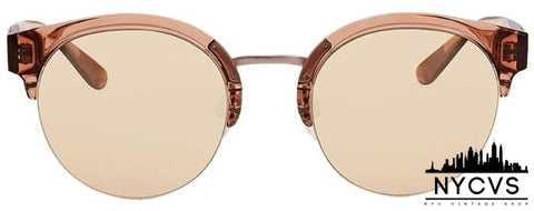 Burberry Clear Brown Italy Sunglasses - NYC Vintage Shop