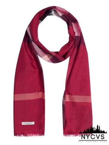 Burberry Red Soft Scarf/Wrap - NYC Vintage Shop