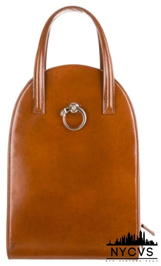 Cartier Panthere Cognac Brown Silver Leather Backpack - NYC Vintage Shop