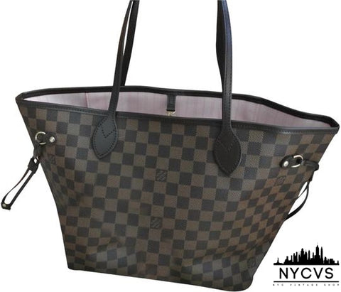 Louis Vuitton Neverfull New  Damier Ebene Multicolor Canvas Tote - NYC Vintage Shop
