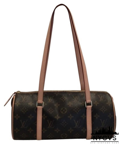Louis Vuitton Papillon Monogram Brown Canvas Shoulder Bag - NYC Vintage Shop