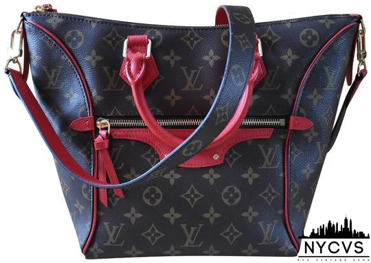 Louis Vuitton Tournelle Monogram & Red Pm New Condition Shoulder Bag - NYC Vintage Shop