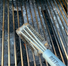Best BBQ Grill Brush for cleaning grill great on smokers and bbq 18 inch stainless steel