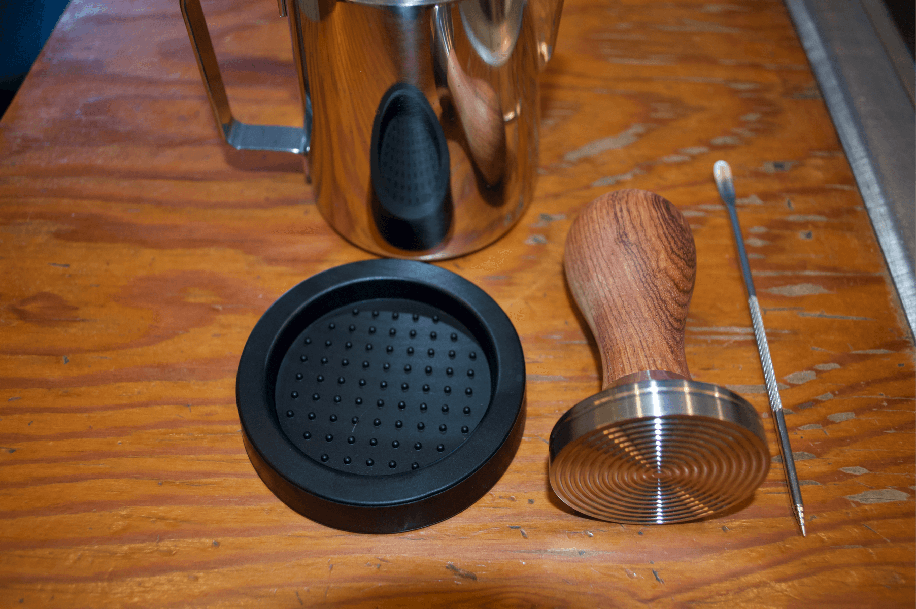 Best Espresso Tamper Set For Home Coffee Comes with Tamper mat to protect counter and rest portafilter