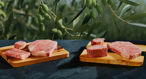 Try the rarest, most expensive meat in the world, olive wagyu beef from island in Japan via CrowCow online
