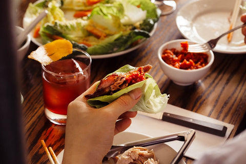 """Lunar New Year Lettuce Wraps - Lettuce in Cantonese is """"shēngcài"""" 生菜  sounding like the English phrase """"growing fortune"""".- Best Lunar Chinese New Year Dishes - Year of the Ox"""