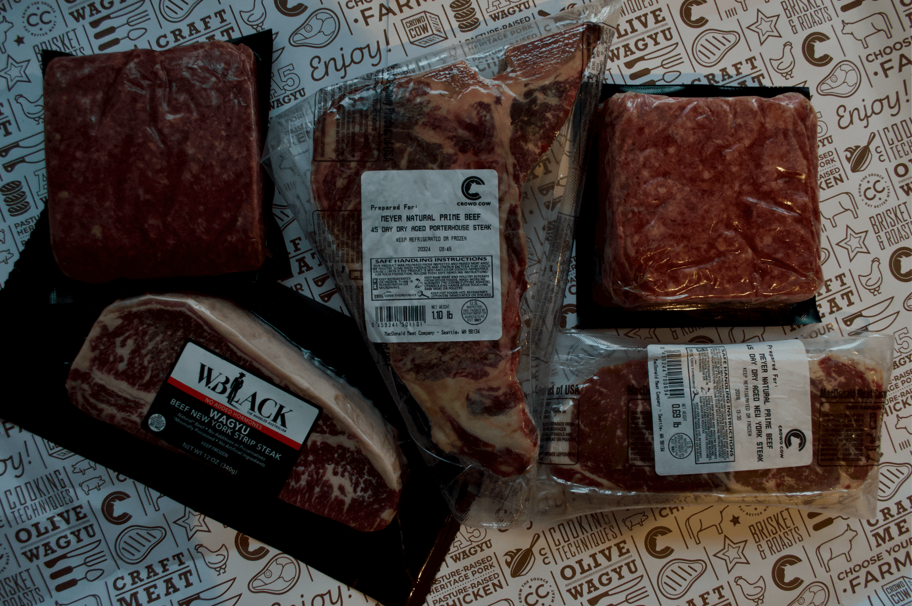 ThawTable The Best way to defrost dry Aged and wagyu New York strip and Porterhouse From Crowd Cow