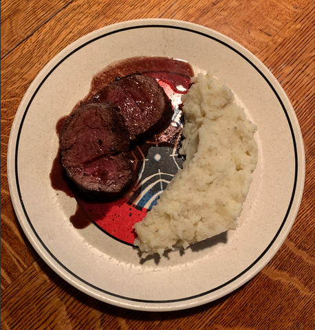 Wine sauce and Chateaubriand from crowdcow plated recipe