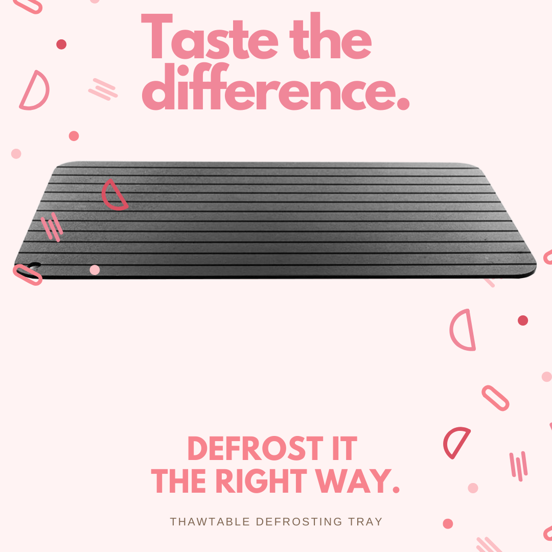 ThawTable -  Defrosting Food Reimagined - Taste the difference in your meal on the go from properly defrosting your meat and veggies with the travel Size ThawTable defrost tray - Best Defrosting Tray And Kitchen Accessory Of 2021