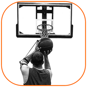 Basketball player holding his follow-through while wearing Perfec'Shot.