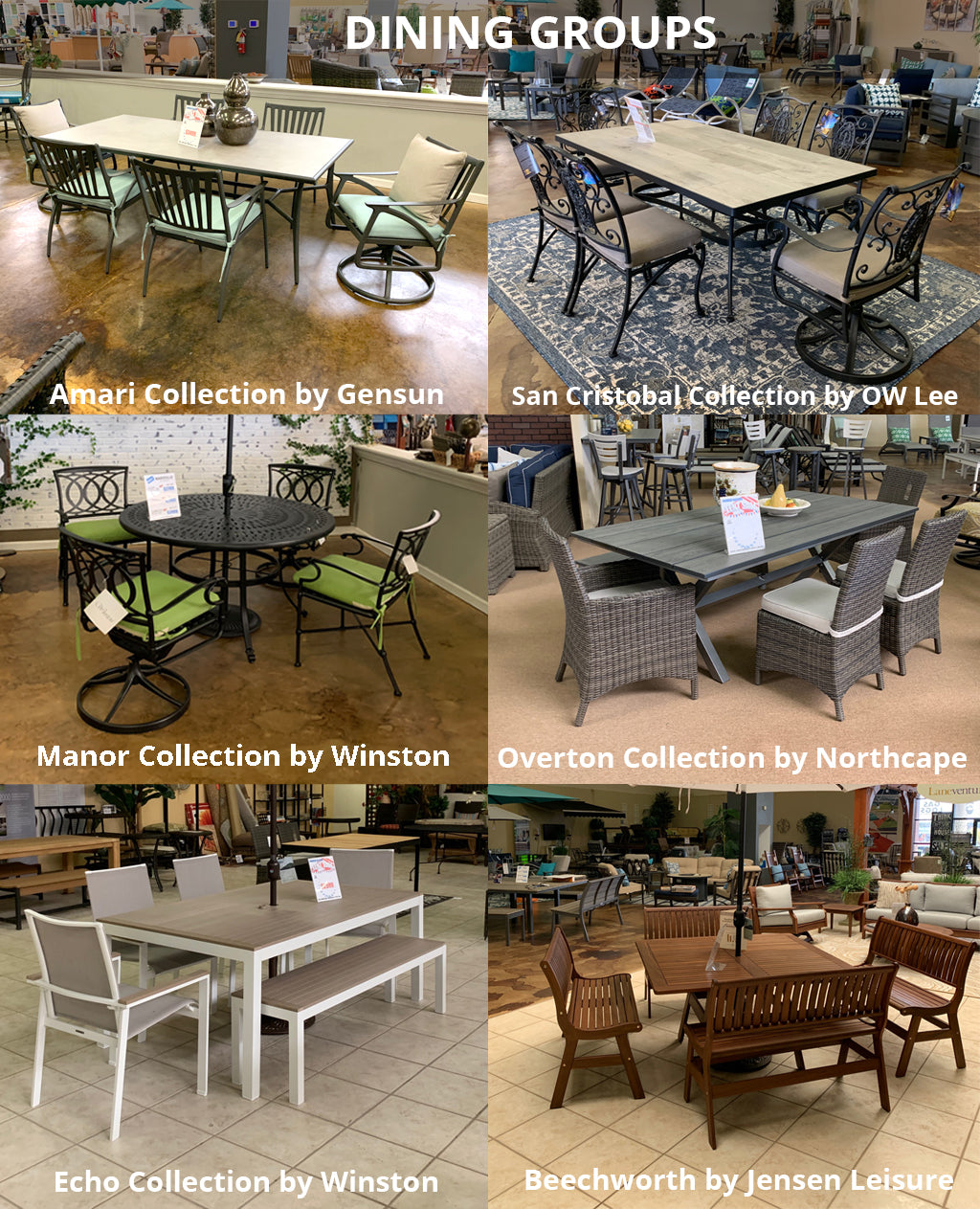 IN STOCK OUTDOOR DINING SETS