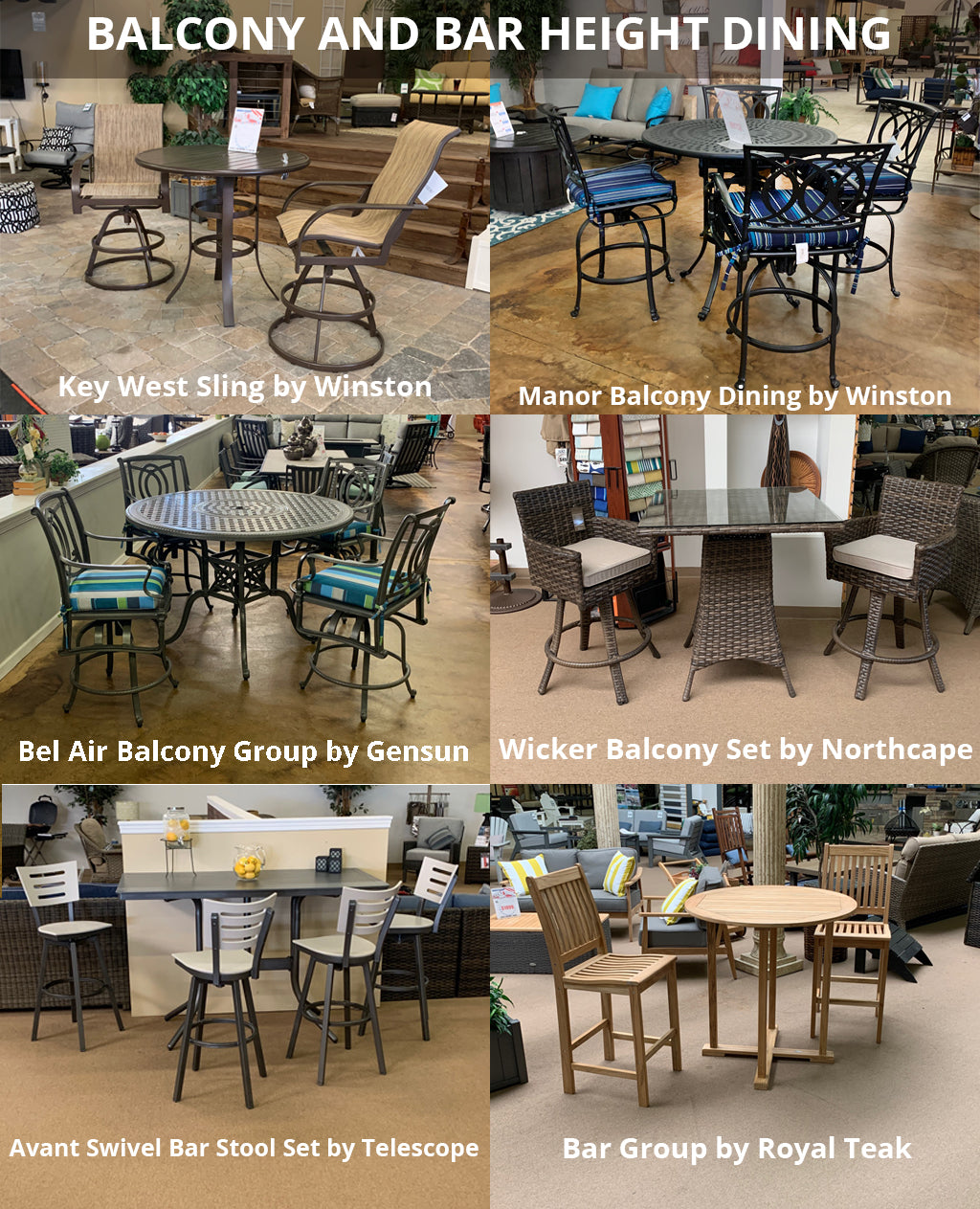 IN-STOCK BALCONY AND BAR SETS