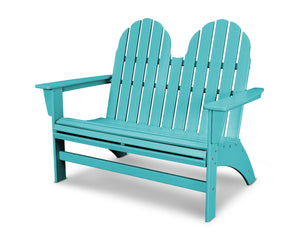POLYWOOD® Vineyard Adirondack Bench in Vibrant Colors