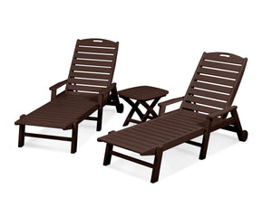 POLYWOOD® Nautical 3-Piece Chaise w/ Arm Set