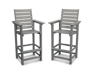 POLYWOOD® Captain Bar Chair Duo