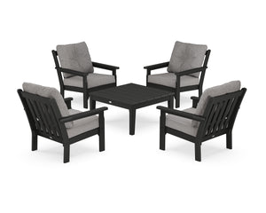 POLYWOOD® Vineyard 5-Piece Deep Seating Conversation Set
