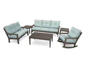POLYWOOD® Vineyard 6-Piece Deep Seating Set in Vintage