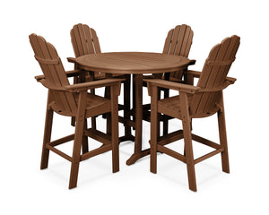 POLYWOOD® Vineyard Adirondack 5-Piece Nautical Trestle Bar Set