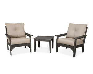POLYWOOD® Vineyard 3-Piece Deep Seating Set in Vintage