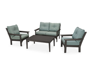 POLYWOOD® Vineyard 4-Piece Deep Seating Set in Vintage
