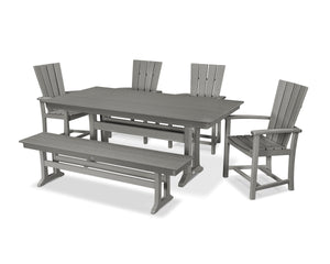 POLYWOOD® Quattro 6-Piece Farmhouse Dining Set