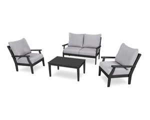 POLYWOOD® Braxton 4-Piece Deep Seating Chair Set