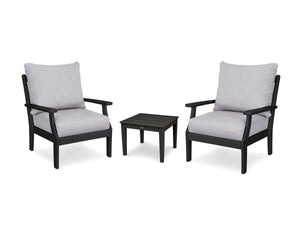 POLYWOOD® Braxton 3-Piece Deep Seating Set
