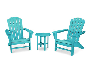 POLYWOOD® Nautical 3-Piece Adirondack Set