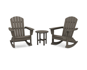 POLYWOOD® Nautical 3-Piece Adirondack Rocking Chair Set in Vintage