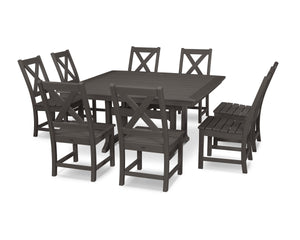 POLYWOOD® Braxton 9-Piece Nautical Trestle Dining Set in Vintage