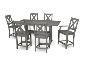 POLYWOOD® Braxton 7-Piece Farmhouse Counter Set