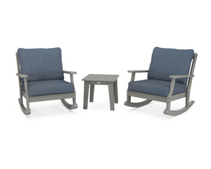 POLYWOOD® Braxton 3-Piece Deep Seating Rocker Set