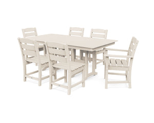 POLYWOOD® Lakeside 7-Piece Farmhouse Dining Set