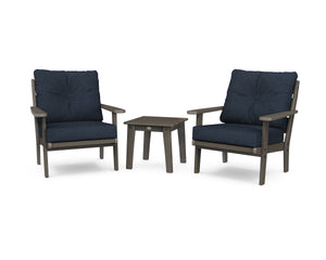 POLYWOOD® Lakeside 3-Piece Deep Seating Chair Set in Vintage