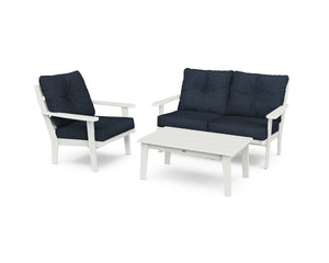 POLYWOOD® Lakeside 3-Piece Deep Seating Set in Vintage