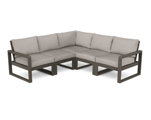 POLYWOOD® EDGE 5-Piece Modular Deep Seating Set in Vintage