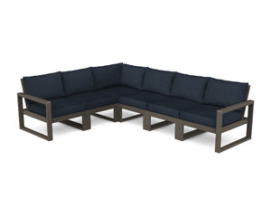POLYWOOD® EDGE 6-Piece Modular Deep Seating Set in Vintage