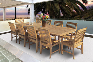 Royal Teak Compass 11 Piece Dining Set