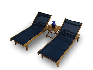 Royal Teak Sundaze Chaise 3 piece Set