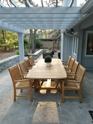 Royal Teak Compass 9 Piece Dining Set
