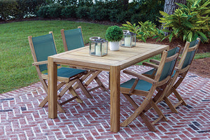 Royal Teak Sailmate 5-Piece Rectangle Dining Group
