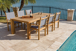 Royal Teak Captiva Sling 7 Piece Dining Group