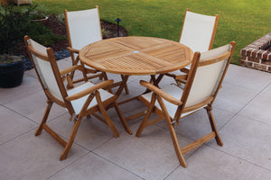 Royal Teak Florida Sling 5 Piece Dining Group