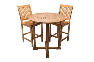 Royal Teak 3 Piece Bar Set