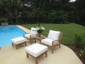 Royal Teak Coastal 5-Piece Deep Seating Collection