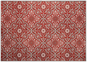 Mosaic Outdoor Rug - Ruby