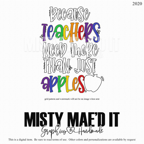 Because Teachers Need More Than Just Apples
