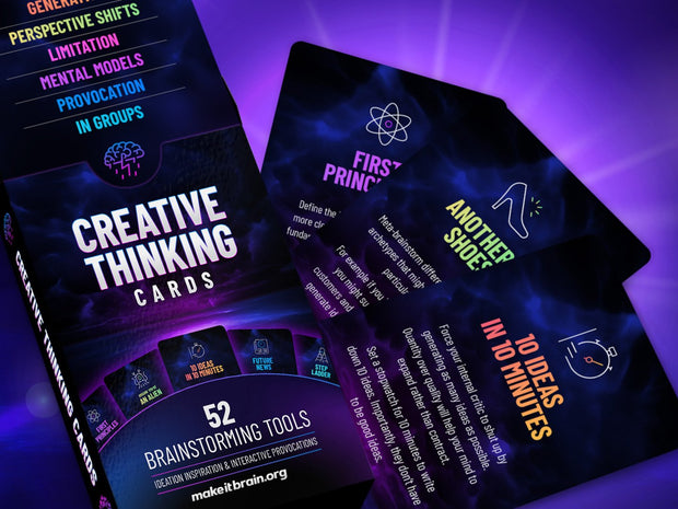 3 x Creative Thinking Cards Bundle