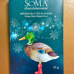 Soma Chocolatemakers Brown Butter Rum Chocolate Bar
