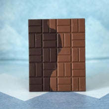 Load image into Gallery viewer, Mission Chocolate Two Rovers 70% Dark Chocolate Bar Unwrapped
